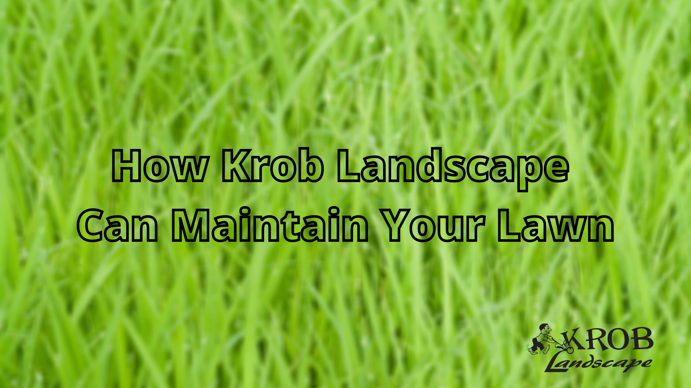 How Krob Landscape Can Maintain Your Lawn.png