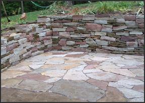 Stone Walls in Baldwin County AL - Krob Landscape